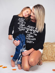 "Mom & Me ""Just In Love"" MOM/GIRL/BOY/BABY Shirt"
