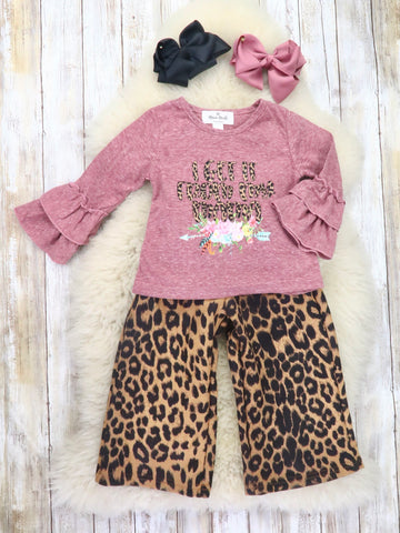 """I Get it From My Mama"" Top & Leopard Pants Outfit"