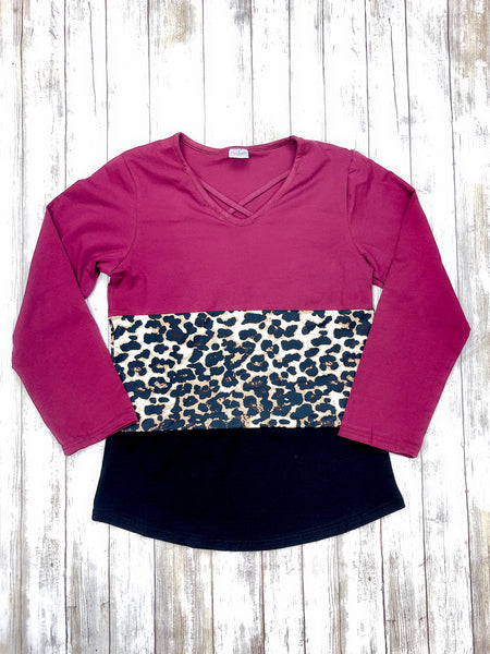 Mom & Me Leopard V-Neck Shirt