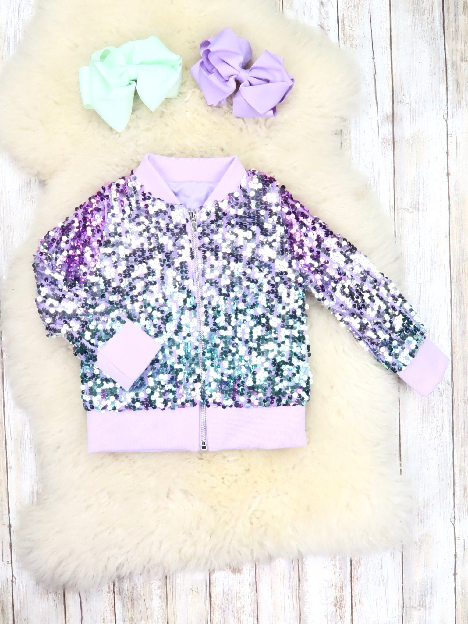 Lavender / Teal Sequin Jacket