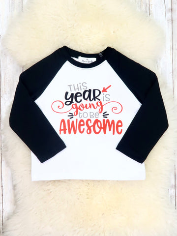 "White / Black ""Awesome Year"" Shirt"