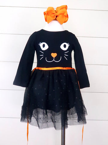 Black Cat Tulle Dress