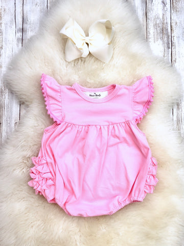 The Bella Bubble/Romper - Vintage Pink