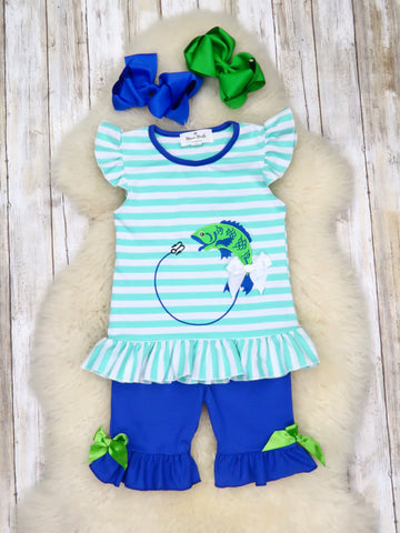 Striped Fishing Ruffle Outfit