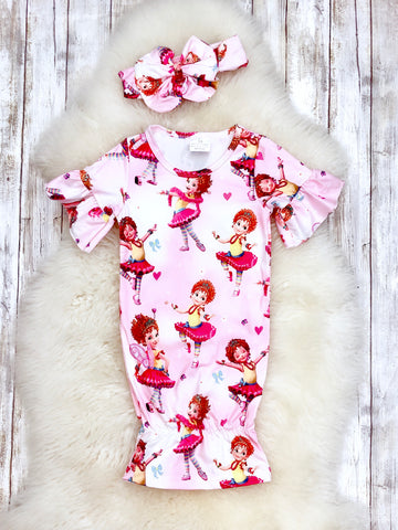Fancy Nancy Baby Gown & Headband