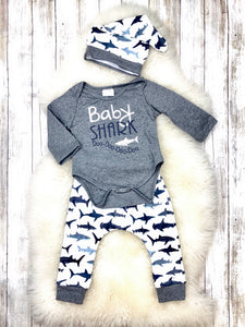 Baby Shark 3 Piece Outfit