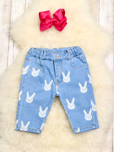 Bunny Denim Shorts