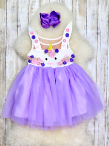 Lavender Unicorn Bunny Tulle Dress