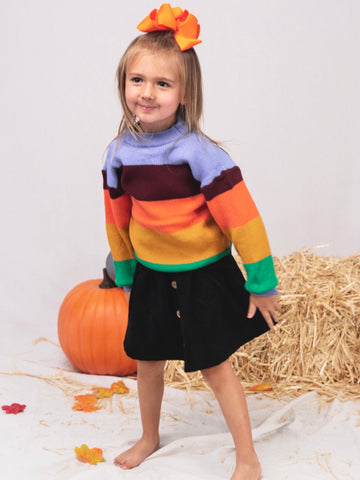 Mom & Me Color Blocked Crewneck Sweater