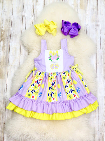 Purple & Yellow Unicorn Bunny Tank Dress