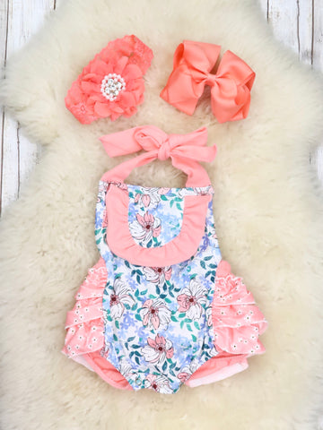 Mixed Florals Summer Bubble Romper