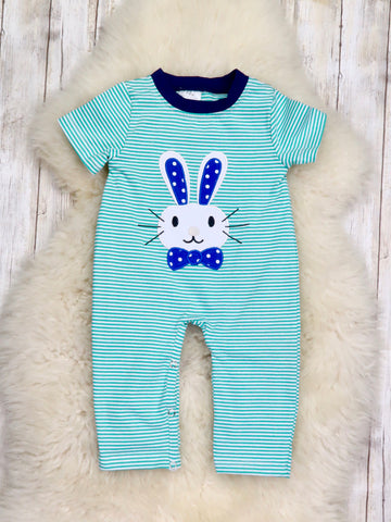 Bunny Striped Romper for Boy
