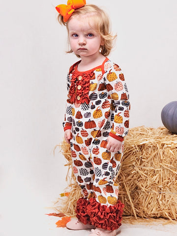 Pumpkin Icing Cotton Romper