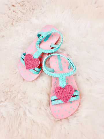 Baby Heart Sandals - 3 Colors