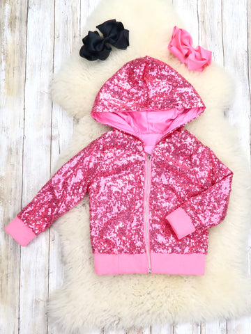 Hot Pink Sequin Jacket