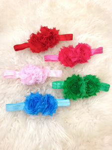 Chiffon Flower Headband 5 Colors Bundle