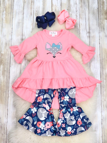 Pink Fox Hi-Lo Tunic & Bell Bottoms Outfit