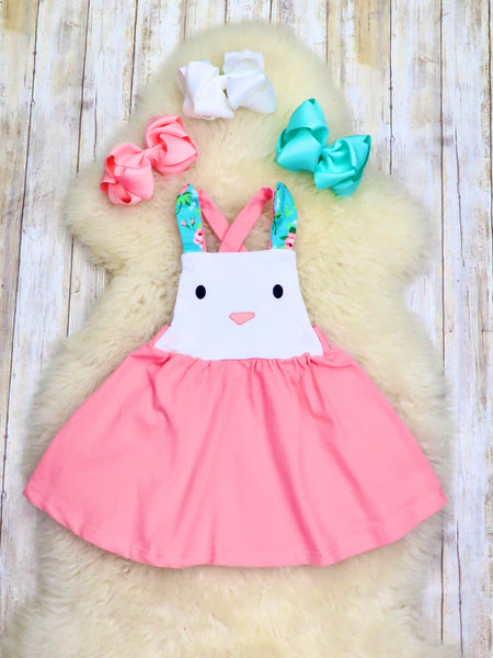 Pink Bunny Criss Cross Dress