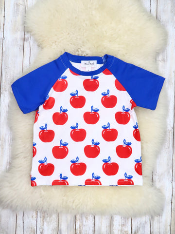 Blue  Apple T Shirt