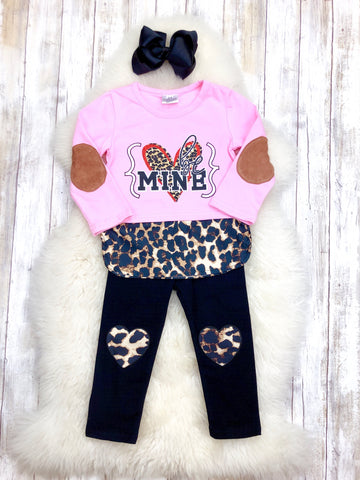 BE MINE Leopard & Pink Outfit