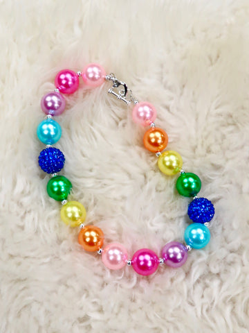 Rainbow Pearl Bubblegum Necklace