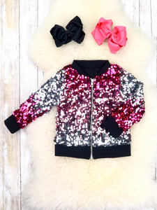 Pink / Silver Sequin Jacket