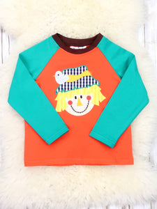 Teal / Orange Scarecrow Shirt