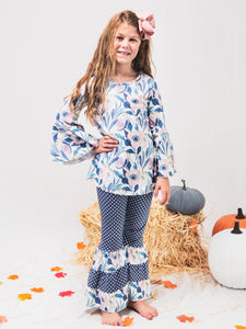 Fall Lily Top & Polka Dot Bell Bottoms Outfit