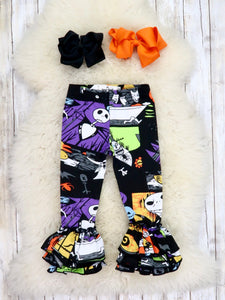 Cotton Bell Ruffle legging -  Nightmare Before Christmas