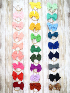 Bow Headband - 27 Colors Available