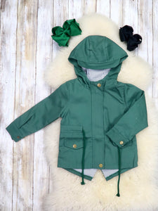 Hunter Green Hooded Jacket