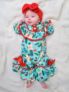 Christmas Joy Ruffle Romper