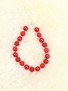 Red Pearl Bubblegum Necklace