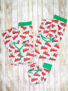 Family Christmas Tree Truck Pajamas