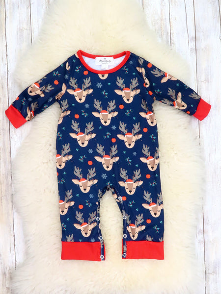 Family Reindeer Navy Pajamas
