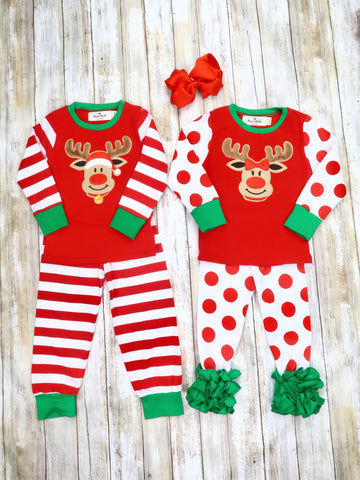 Christmas Reindeer Pajamas - For Boys & Girls - Restocked!