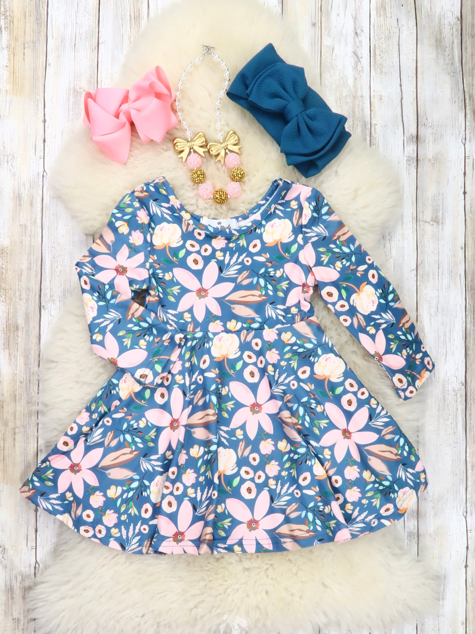 Jade Pink Lily Spring Dress