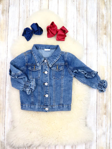 Denim Ruffle Jacket