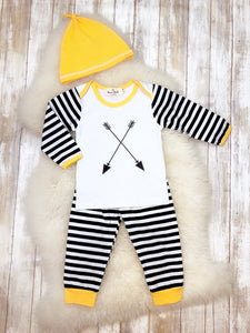 Arrow Striped 3 Piece Outfit for Infant