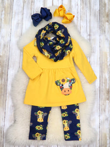 Yellow Cow 3 Piece Outfit