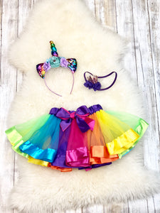 Rainbow Layered Tutu Skirt - 4 Colors