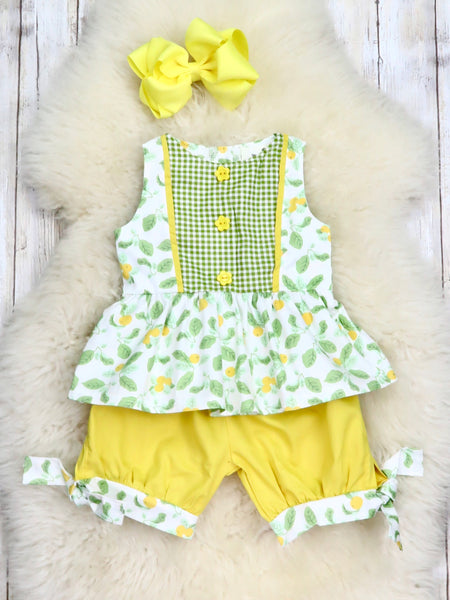 Cotton Dressy Top with Short Outfit - Spring Berry
