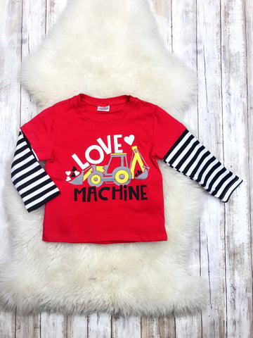 Red Love Machine Long Sleeve Shirt