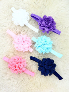 3 Inch Eyelet Lace Headband 6 Colors Available