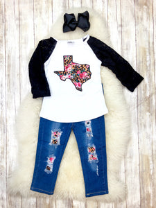 Texas Lace Top & Denim Outfit