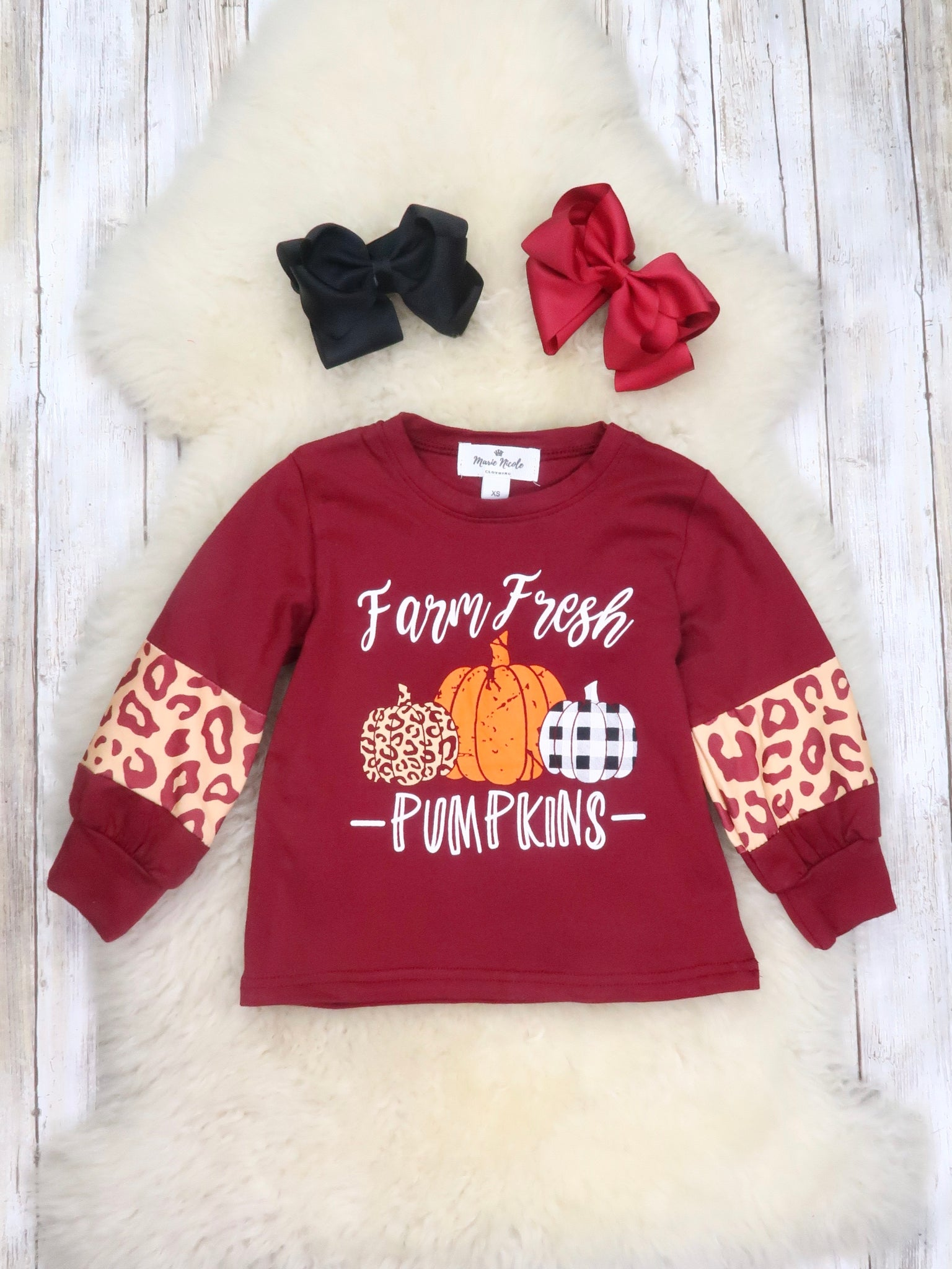 Farm Fresh Pumpkins Burgandy Shirt
