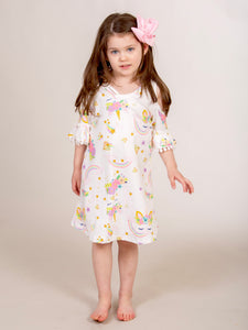 Cold Shoulder Dress - Unicorn Ruffle