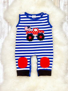 Striped Truck Romper