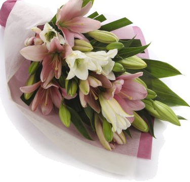 Bouquet of Oriental Lillies and Roses