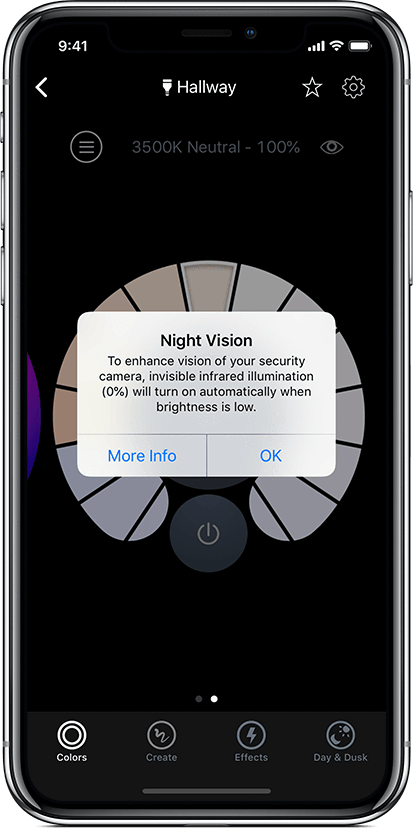 LIFX App - Infrared Night Vision